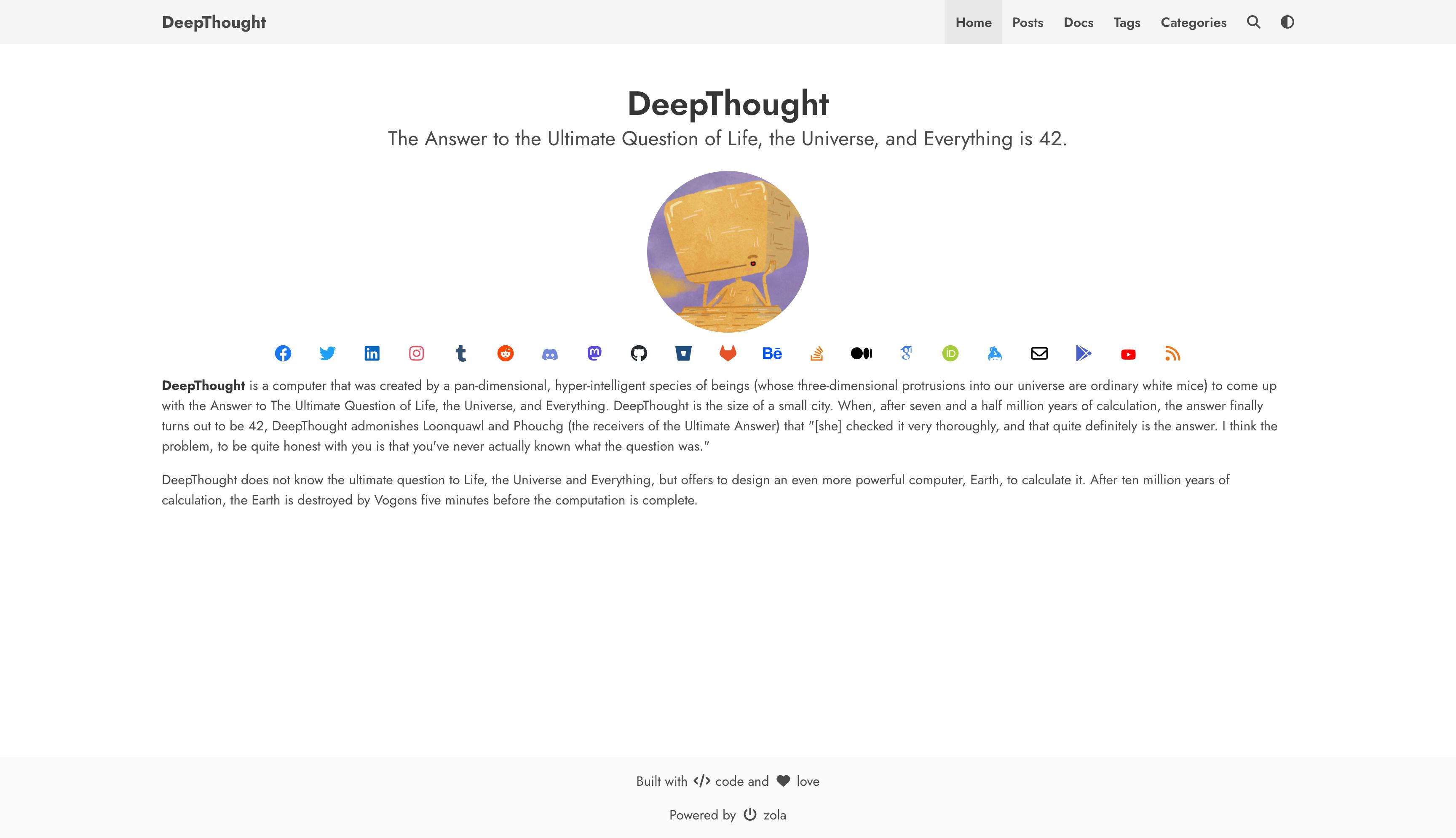 Screenshot of DeepThought
