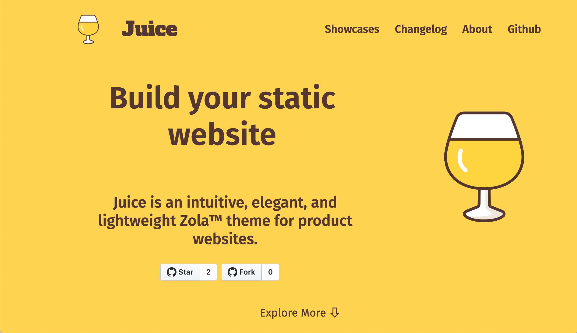 Screenshot of juice