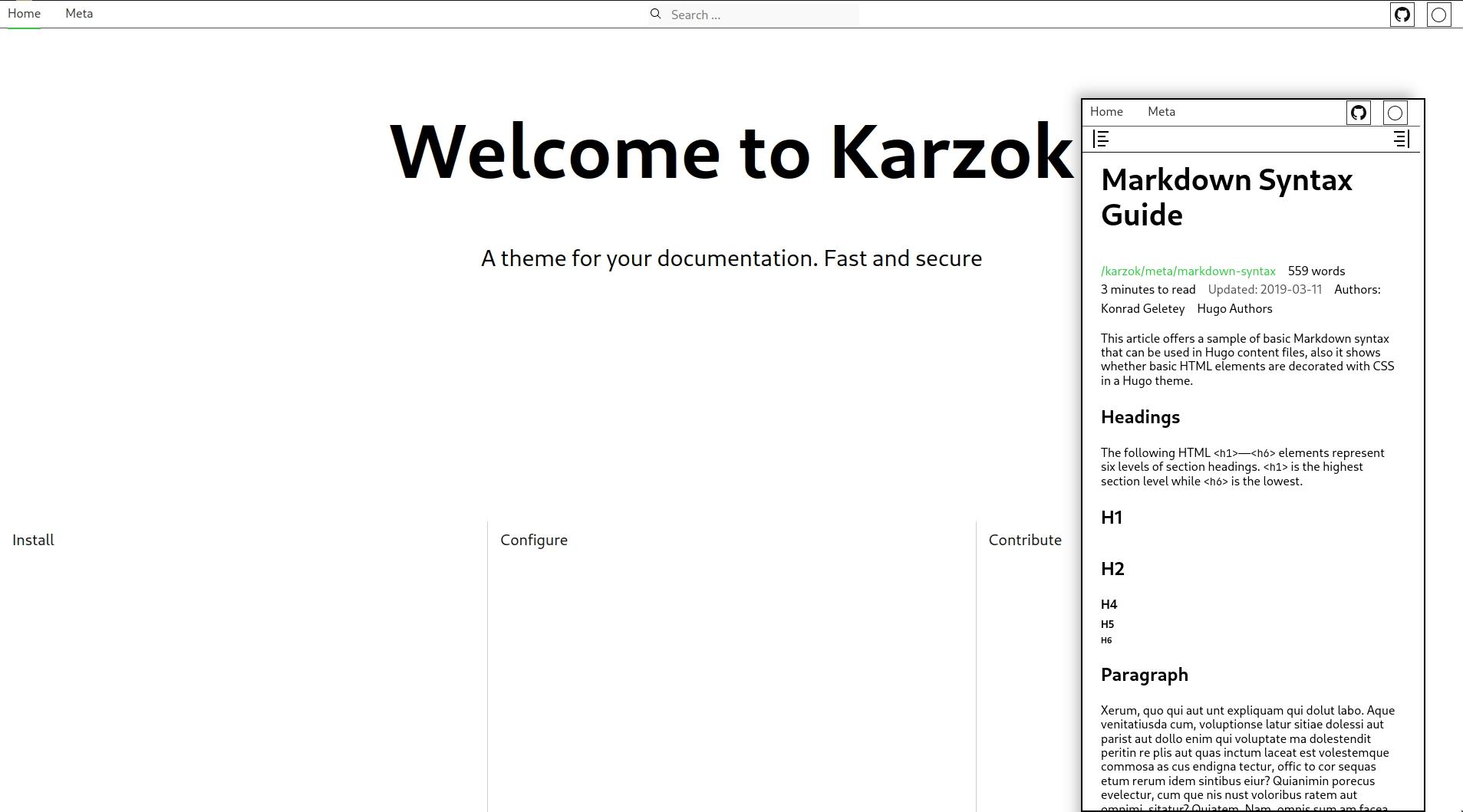 Screenshot of karzok