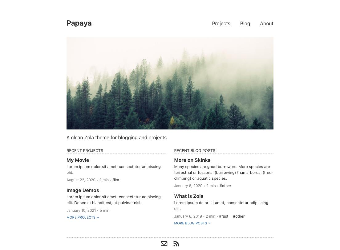 Screenshot of Papaya