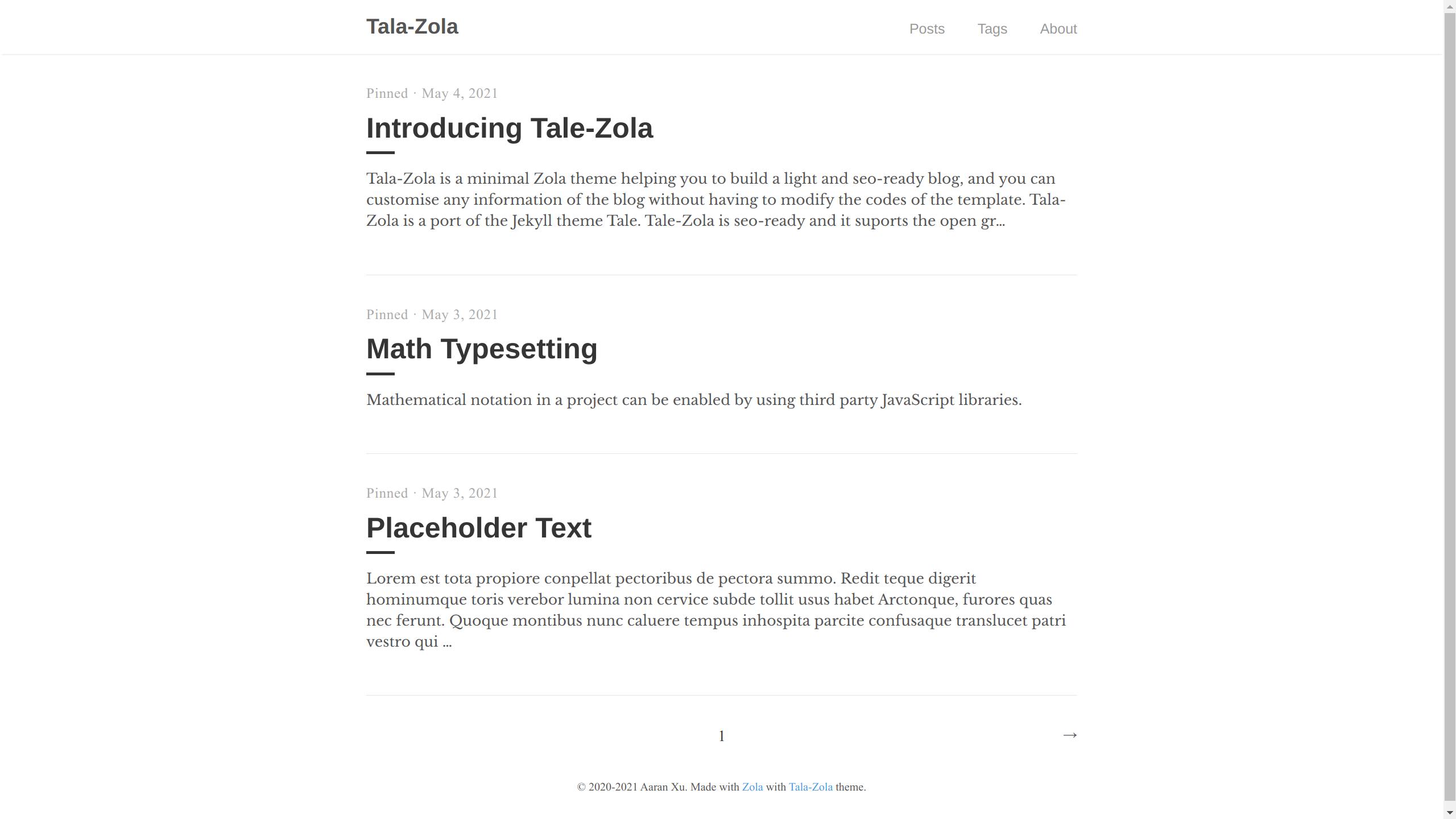 Screenshot of tale-zola
