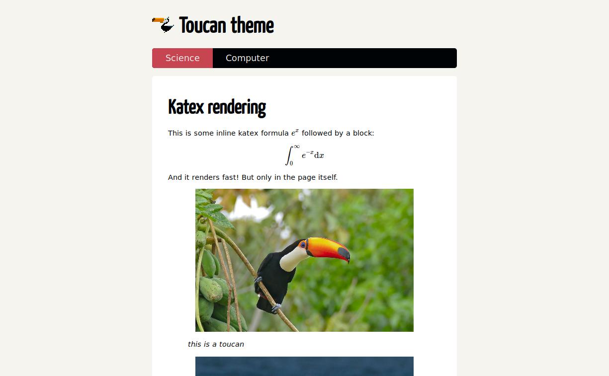 Screenshot of Toucan