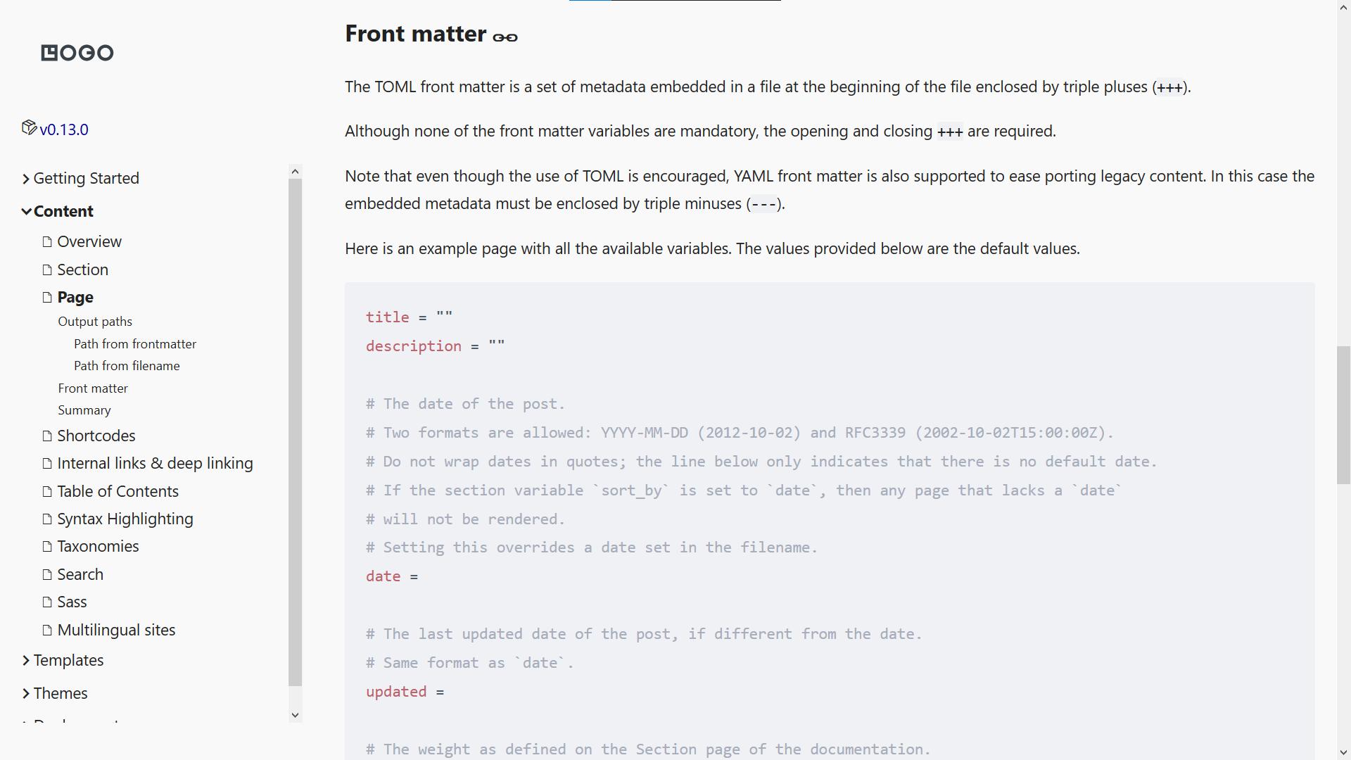 Screenshot of EasyDocs
